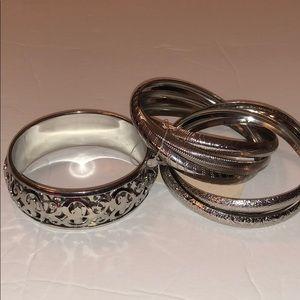 Silver Multi Bracelet Set